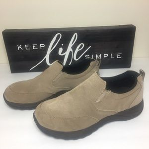 L.L. Bean Tan Slip on Suede Mocs/Loafers/Shoes